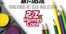 Art-tastic - Homeschool Art Ideas and lessons / Art projects, inspiration, and education to help you with homeschooling art!