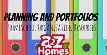 Planning and Portfolios- Homeschool Organization Resources / Resources to help you start organizing and planning your homeschool.