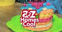 Playdoh Projects - Homeschool Playdough Resources / Playdoh projects to use with your homeschool lessons or just for fun ;)