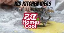Kid Kitchen Ideas - Homeschool Cooking Resources / Kid lessons, recipes, and more for general use or homeschool use.