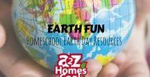 Earth Fun - Homeschool Earth Day Resources / Celebrate Earth Day with these fun homeschool resources.