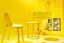 Yellow interior design