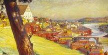 Porvoo - Borgå by Albert Edelfelt / Paintings made by the Finnish artist Albert Edelfelt.