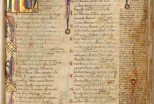 Dante: La Divina Commedia [Manuscrito] . Inc.: Nel meçço del camin di nostra vita (h. 2)... Exp.: La mor che muovel sole e laltre stelle (h. 87v)