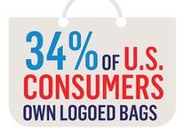 Bags / Data show that promotional bags garner the most advertiser impressions of any product. 34% of U.S. consumers own logoed bags!