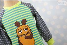 Snaply ♥ Die Maus Jerseystoffe Designbeispiele / Exklusiv bei Snaply erhältlich: https://www.snaply.de/stoffe/jersey/search/die-maus-39/