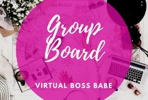 Virtual Boss Babe blogger group board / GROUP BOARD Blogger board, great way to collab & learn from each other.  Share the love! Follow me & this board to be accepted x