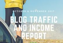 Blogging | Income Reports and Traffic Details / A place to pin blog traffic and income reports to better learn about the business side of blogging.