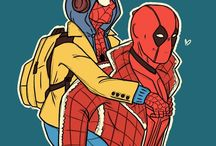 Spideypool / Pictures oh Spideypool. But I'm gonna warn you; these pictures is like much yaoi.