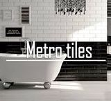Metro tiles / Classic bevelled tiles are ideal for creating brick pattern on your walls which gives you elegant look. Bevelled edge and glazed finish will create ultra modern accent in your kitchen.