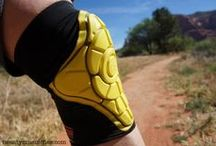 G-Form pads for Mountainbiking  / G-Form impact pads are perfect for mountainbiking because of our unique molding process that still allows for flexibility and fluid movement.  Our pads can be worn under clothing and are completely washable. / by G-Form