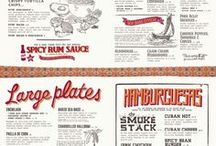 Restaurant menu design / A collection of print, digital, vintage to contemporary restaurant menus.