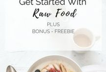 Raw food 101 / resources for health-conscious women curious about raw foods, how to start a raw vegan diet, living foods, raw food recipes and more
