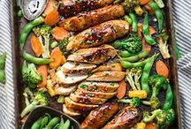 One Pan Recipes / Recipes made in one pan, easy recipes, one-pot meals, sheet pan recipes