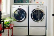 Laundry / Beautiful spaces for stashing those piles of dirty clothes. / by Judi Garber