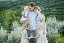 """Family Picture Ideas / Fun photography ideas for families including: poses, props, locations, and """"what to wear"""" for your photo shoot."""