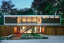20th Century Homes #Architecture / Is there such a thing as being Bi-Architectural? If so, thats what I am. I like them either strong, sharp & angular or soft, rounded & curvaceous.