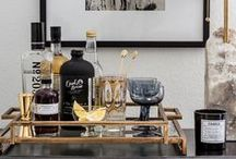 belly up to the bar / home bars and bar carts / by sfgirlbybay / victoria smith