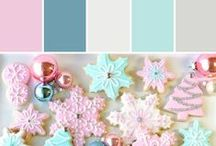 Holiday Hues | Pastel Christmas / Soft, sweet and whimsical this is a unique color concept for the holiday season. Pale pinks, yellows and greens add a cheerful glow.