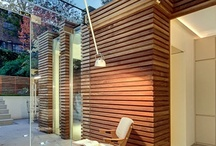 Collecting ideas to add wood elements around the house / Loving the wood slat on wall look  / by Amanda Forbes Mestdagh