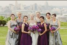 Real Wedding: Pretty in Plum / www.vivabellaevents.com