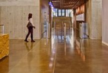 Floor Leveling & Concrete / Concrete, floor leveling & pours are an important part of commercial flooring. Here are some of our projects, trends we love, and design that makes concrete cool.