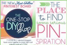 "The One-Stop DIY Shop / Eight EXTREMELY talented bloggers have come together to share their most popular posts with YOU! Darling crafts, yummy recipes, DIY home projects, gorgeous make-up tutorials, cute relationship ideas, trendy fashion tips... and MORE! Consider it your One-Stop Blog ""SHOP"" for some serious pin-spiration!! If you follow this board - we promise to FILL your Pinterest feed with eye-candy galore! PLUS - we host amazing giveaways, contests, and parties ON PINTEREST! Follow our sites for more details!"