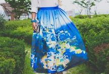Print skirts / floral. geometry, colorful, beautiful skirts / by Olga Choi