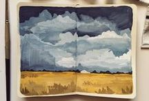DOUBLE PAGE PAINTING