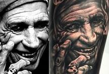 Realism, Portraits Tattoo/ Tatuajes Realismo, Retratos / Realistic tattoos are pictures inked on the skin, yet they look extremely true to life