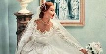 Vintage Bridal Ads / Fabulous and elegant brides of the past in gorgeous vintage advertisements