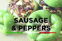 Sausage and Pepper / When it comes to Italian sausage, you can't beat the classic sausage & peppers combo!
