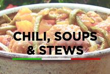 Chili, Soups, & Stews / Warm up with these recipes for chilis, soups and stews!