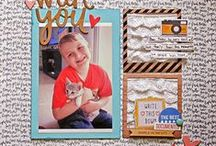 Design-Blocked and Gridded / scrapbook page designs featuring layouts with blocks or grids