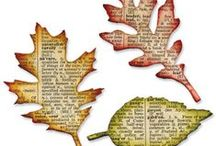 Motif-Leaves and Trees / scrapbook and craft inspiration featuring leaves and trees