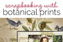 Motif: Botanical/Zoological prints / inspiration for scrapbooking and crafts using zoological prints