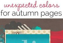 Seasons: Autumn Awesome / Scrapbook and craft inspiration based on the autumn/ fall season