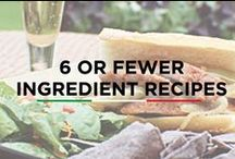 6 or Fewer Ingredients Recipes / Recipes with 6 or less ingredients, could also be named as time saving recipes. Bachelors would also love to know these recipes.  Like and repin these 6 ingredients recipes to let your friends know about it!