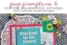 Prompted- Scrapbook Challenges / scrapbook layout challenge ideas- Ideas for making scrapbook pages and using your stash