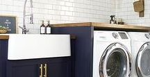 Fresh & Fabulous Laundry Rooms / Take a look at some amazing laundry room designs. Need I say... we would WANT to do laundry in these spaces.