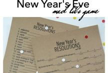 Happy New Year / Fun ideas for New Year's Eve...