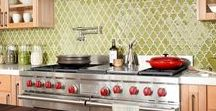 Brilliant Backsplashes / Impossibly chic and colorful!