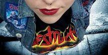 Thrash metal pin up / metal girl