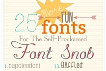 fonts / by Claudine Hellmuth