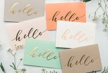 Card Making / Card making inspiration. A handwritten card means so much these days!
