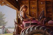 Girl on a Tractor, Repeated / For my niece, Jennifer, who grows more than crops. Title poem by Joyce Sutphen. / by Lora Stevenson