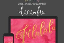 Desktop Wallpaper Designs / I teach people how to do graphic design, brush lettering & creative biz. Video tutorials each week + free downloads! Click to access! http://bit.ly/creativeba / by Holly McCaig Creative