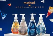 method <3 Rebecca Atwood / simple. luxurious. thoughtfully made. this limited edition collection pairs the painterly patterns of Brooklyn-based designer Rebecca Atwood with four fresh fragrances—sweet citrus, sea spray, sandalwood and herb garden. see them. smell them. love them. and collect them all. they won't be around for long. #methodlovesRA / by method