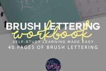 Brush Lettering / Teaching Creative Bloggers How to Have a Better Business Through Creative Courses in Design & Product Development. Join my Free Library: http://hollymccaig.com / by Holly McCaig Creative