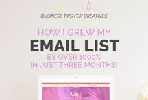 Email & Newsletter Marketing / I teach people how to do graphic design, brush lettering & creative biz. Video tutorials each week + free downloads! Click to access! http://bit.ly/creativeba / by Holly McCaig Creative
